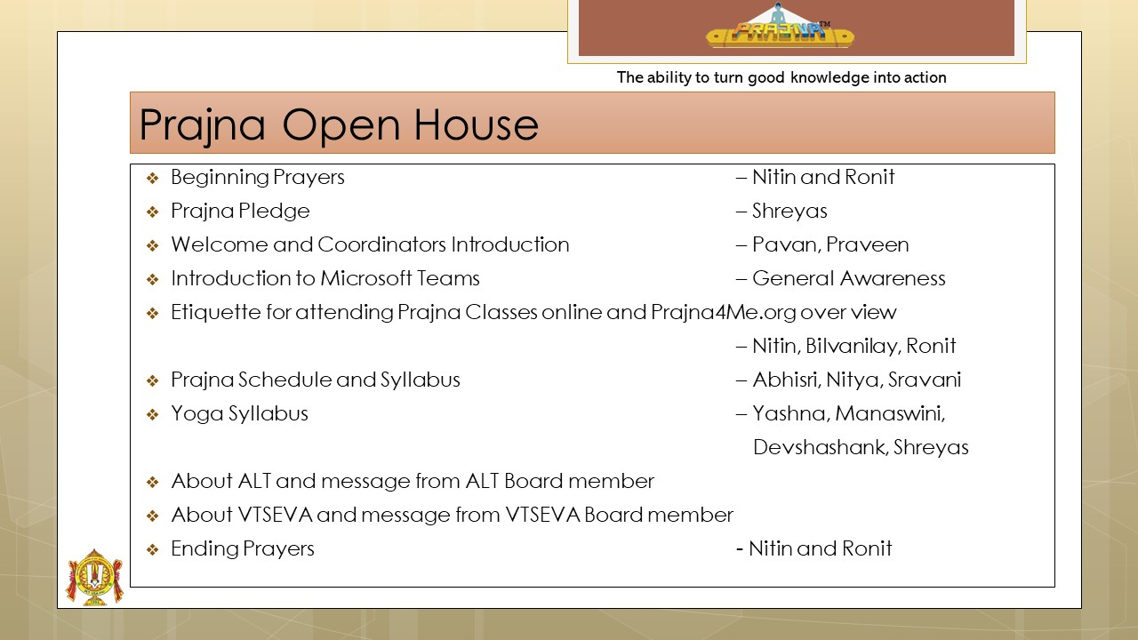 Prajna Open House 2020-21
